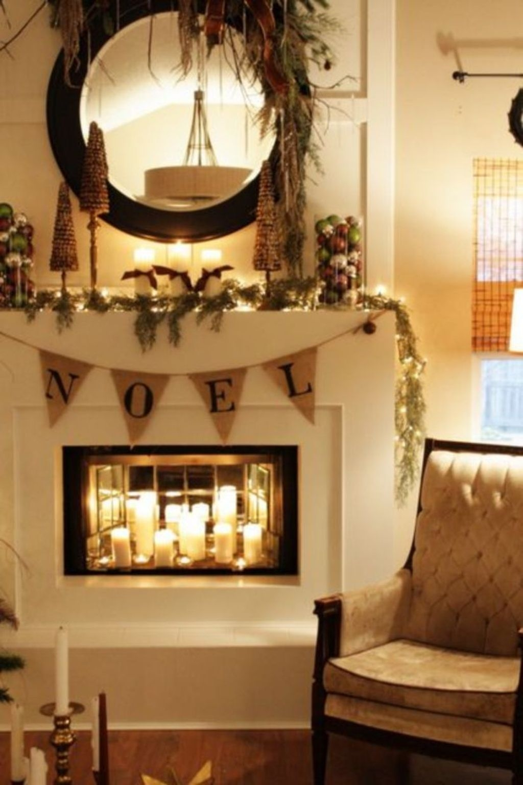 Best Ways To Decorate Your Circle Mirror With Garland22