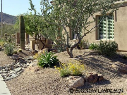 Cool Front Yard Rock Garden Ideas25