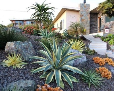 Cool Front Yard Rock Garden Ideas34