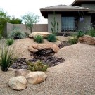 Cool Front Yard Rock Garden Ideas37