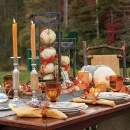 Lovely White And Orange Pumpkin Centerpieces For Fall And Halloween Table21