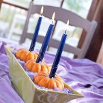 Lovely White And Orange Pumpkin Centerpieces For Fall And Halloween Table25