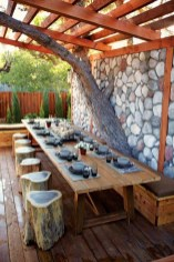 Perfect Diy Seating Incorporating Into Wall For Your Outdoor Space21