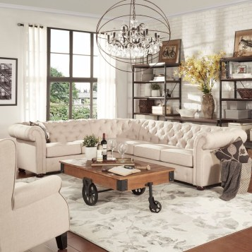 Comfy Farmhouse Living Room Decor And Design Ideas28