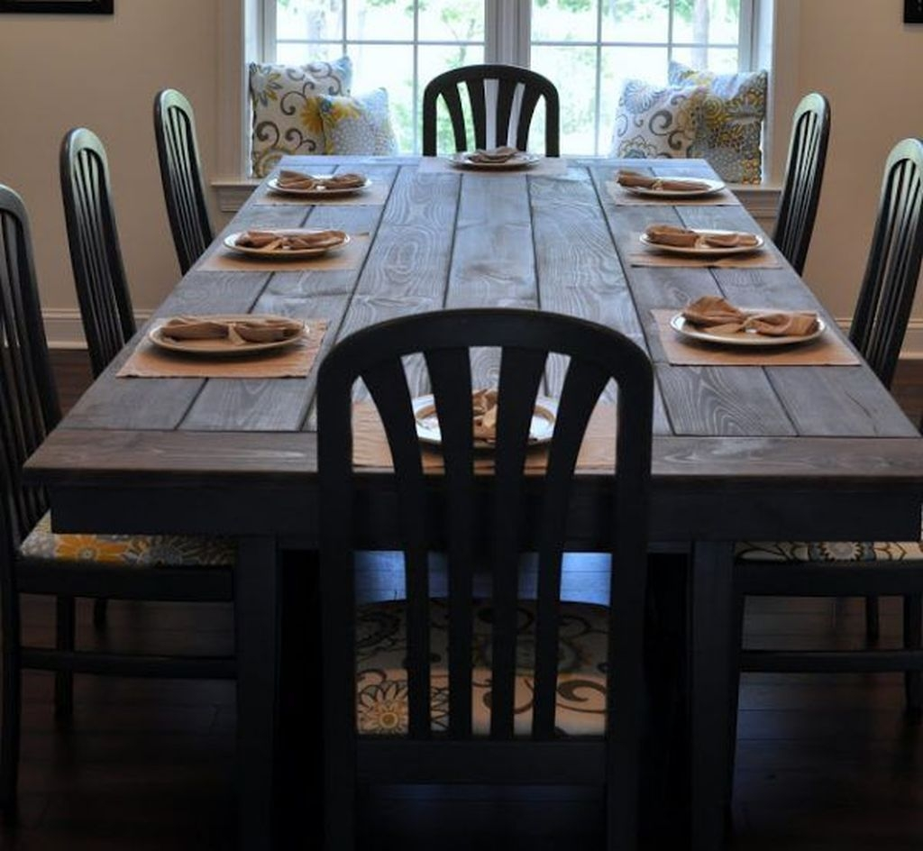 Elegant Farmhouse Dining Room Design Ideas10