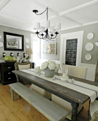 Perfect Farmhouse Dining Room Makeover Ideas35