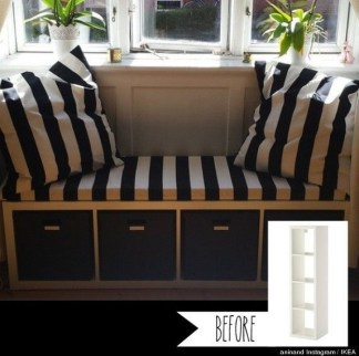 Stunning Window Seat Ideas With Padded Seat And Storage Below15
