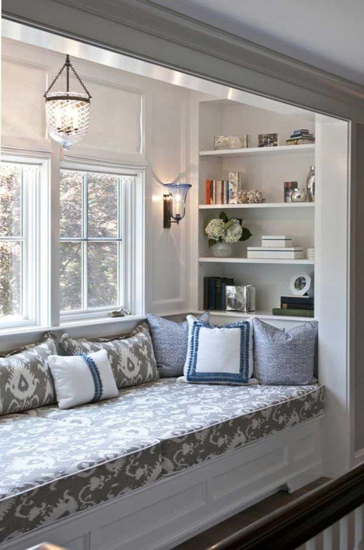 Stunning Window Seat Ideas With Padded Seat And Storage Below23