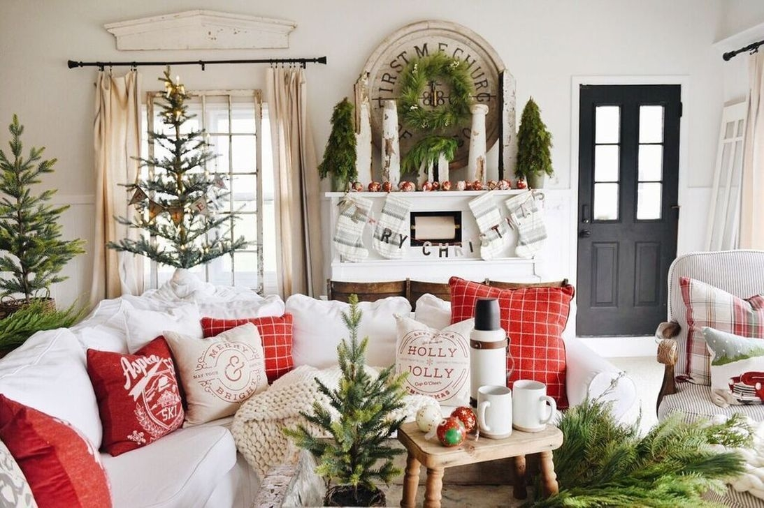 Awesome Vintage Christmas Living Room Decoration Ideas06