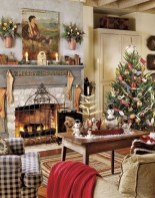 Awesome Vintage Christmas Living Room Decoration Ideas09