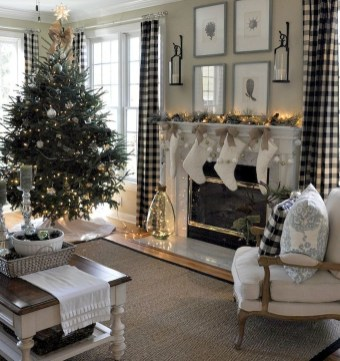 Awesome Vintage Christmas Living Room Decoration Ideas22