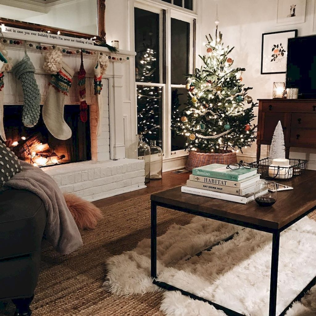 Awesome Vintage Christmas Living Room Decoration Ideas33