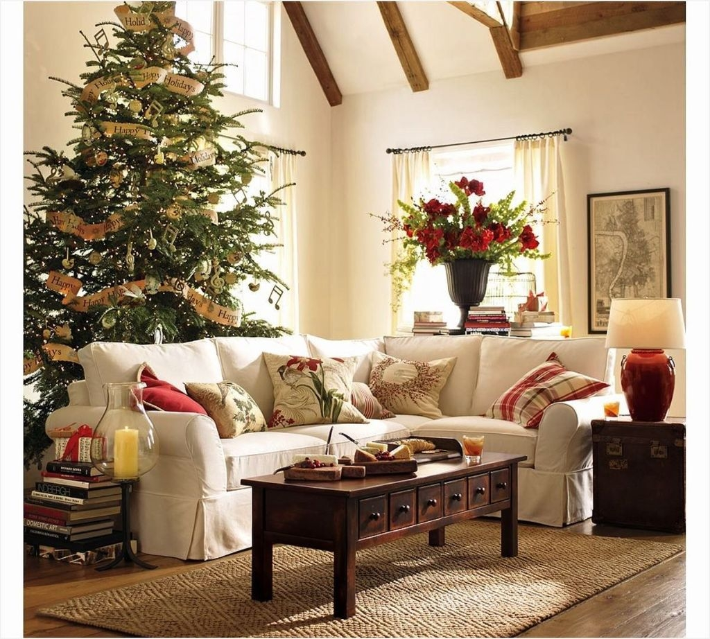 Awesome Vintage Christmas Living Room Decoration Ideas37