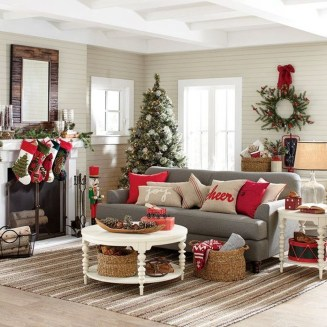 Awesome Vintage Christmas Living Room Decoration Ideas44