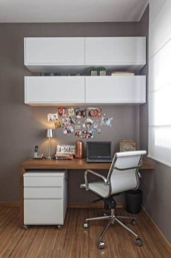 Comfy Home Office Design Ideas For Small Apartment23
