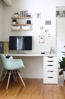 Comfy Home Office Design Ideas For Small Apartment26