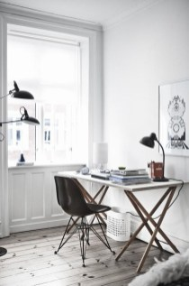 Comfy Home Office Design Ideas For Small Apartment29