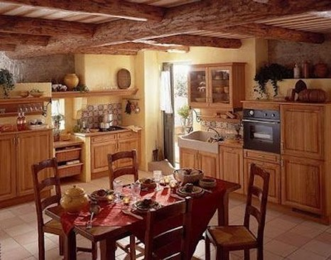 Flawless French Country Style Kitchen Decor Ideas25