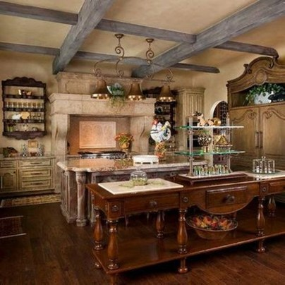 Flawless French Country Style Kitchen Decor Ideas37
