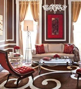 Unordinary Living Room Designs Ideas With Combinations Of Brown Color33