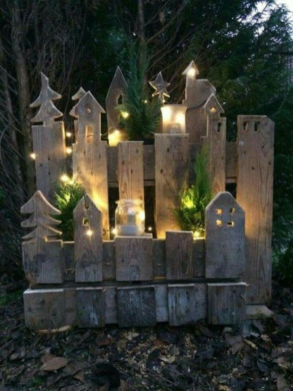 Vintage Outdoor Winter Lights Decoration Ideas15
