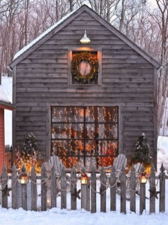 Vintage Outdoor Winter Lights Decoration Ideas22