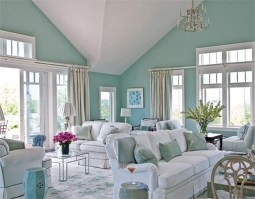 Creative Fresh Lake House Living Room Decoration Ideas34