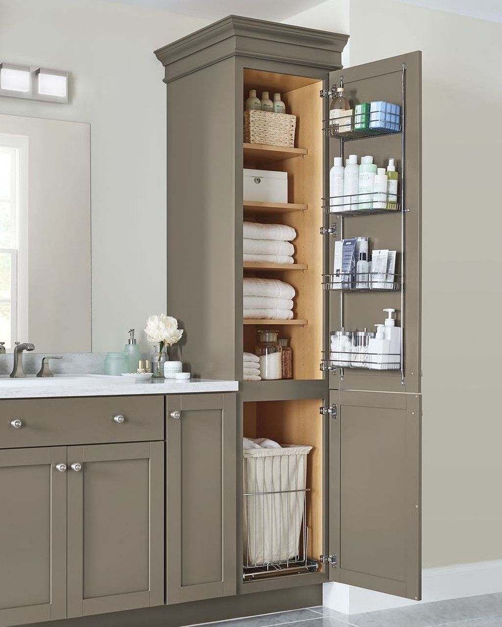 Delightful Bathroom Storage Design Ideas32