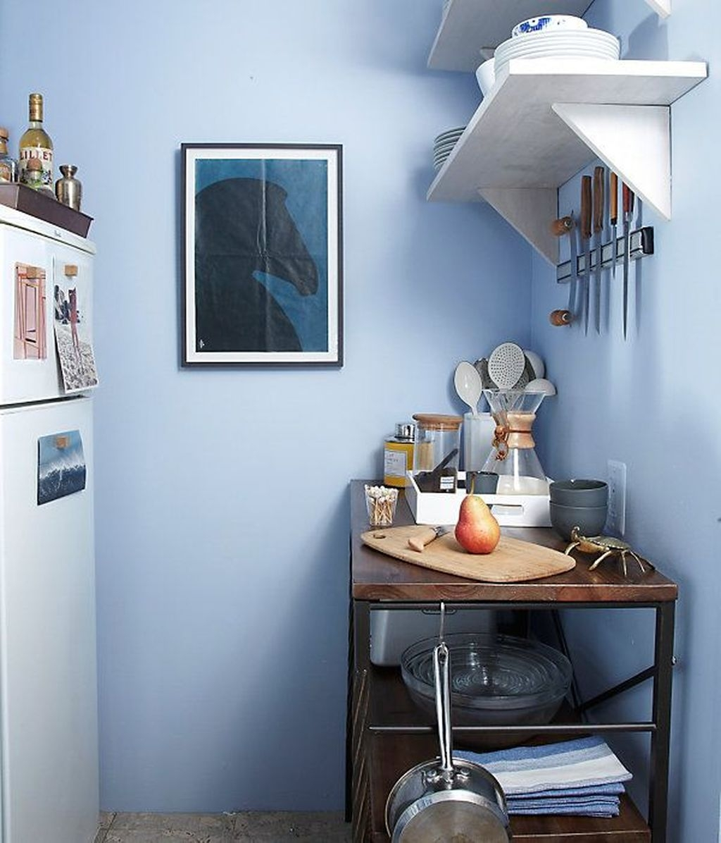 Wonderful Blue Studio Apartment Decor Ideas On A Budget11