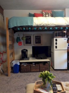 Brilliant Dorm Room Organization Ideas On A Budget41