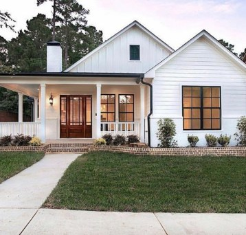 Cheap Farmhouse Exterior Design Ideas15