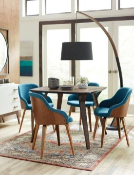 Cool Mid Century Dining Room Table Ideas08