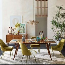 Cool Mid Century Dining Room Table Ideas10