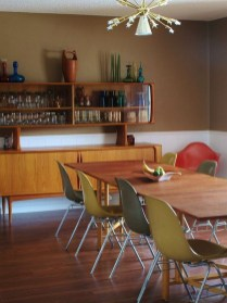 Cool Mid Century Dining Room Table Ideas37