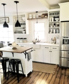 Elegant Farmhouse Kitchen Design Decor Ideas05