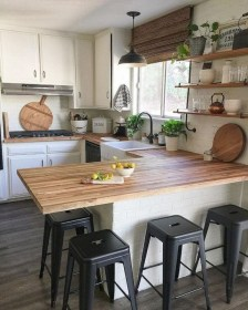 Elegant Farmhouse Kitchen Design Decor Ideas20
