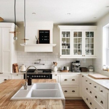 Elegant Farmhouse Kitchen Design Decor Ideas41