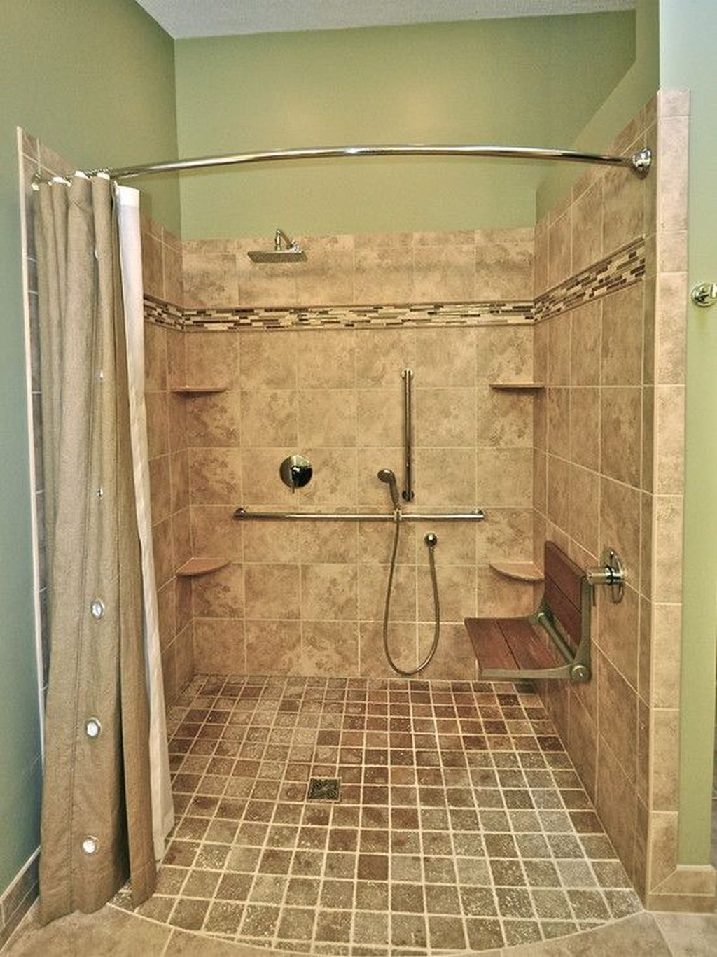 Incredible Curbless Shower Ideas For House04