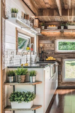 Lovely Tiny House Kitchen Storage Ideas26