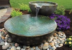 Unordinary Water Feature Front Yard Backyard Landscaping Ideas46