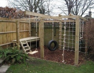 Wonderful Diy Playground Project Ideas For Backyard Landscaping04