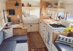 Adorable Rv Interior Ideas For Camping Trip15