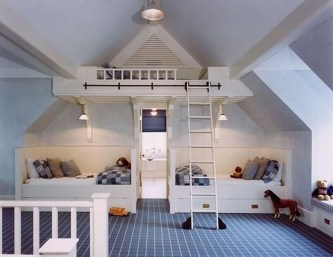 Affordable Attic Kids Room Decor Ideas10