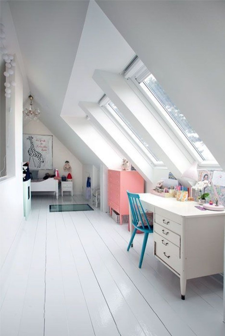 Affordable Attic Kids Room Decor Ideas23