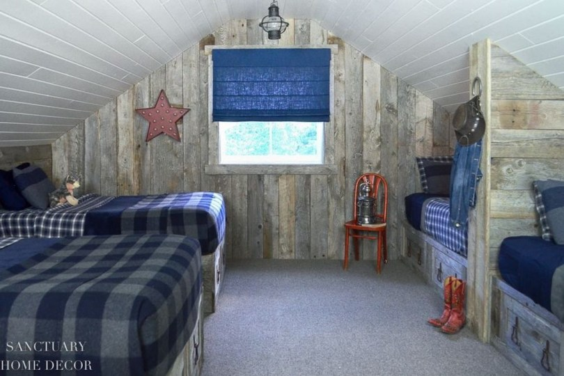 Affordable Attic Kids Room Decor Ideas34