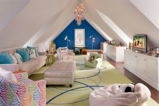 Affordable Attic Kids Room Decor Ideas36