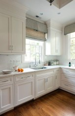Captivating White Cabinets Design Ideas For Kitchen03