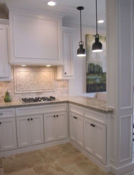 Captivating White Cabinets Design Ideas For Kitchen26