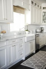 Captivating White Cabinets Design Ideas For Kitchen29