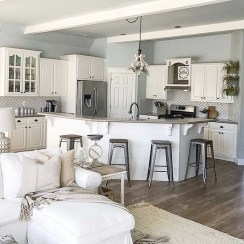 Captivating White Cabinets Design Ideas For Kitchen30